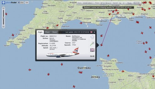 Olympic Torch Flight Tracking