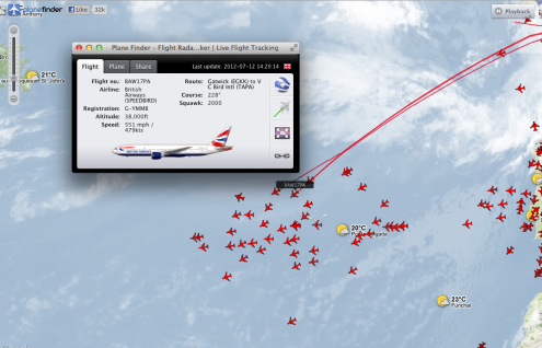 Azores ADS-B Flight Tracking