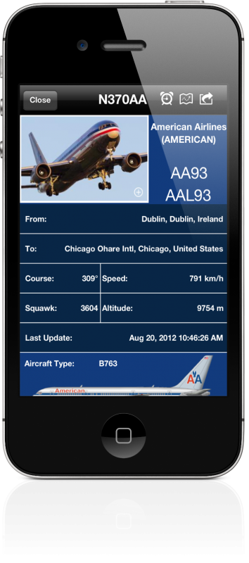 Improved Details Screen Flight Tracking