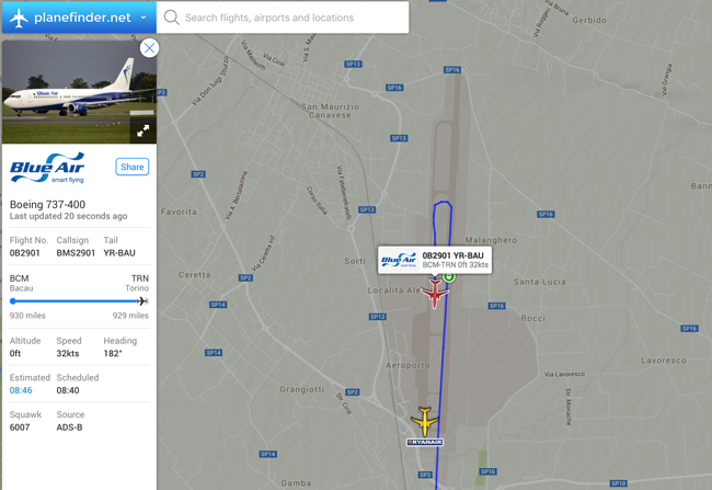 Turin Airport Flight Tracker