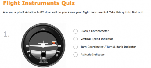 Flight Instruments Quiz