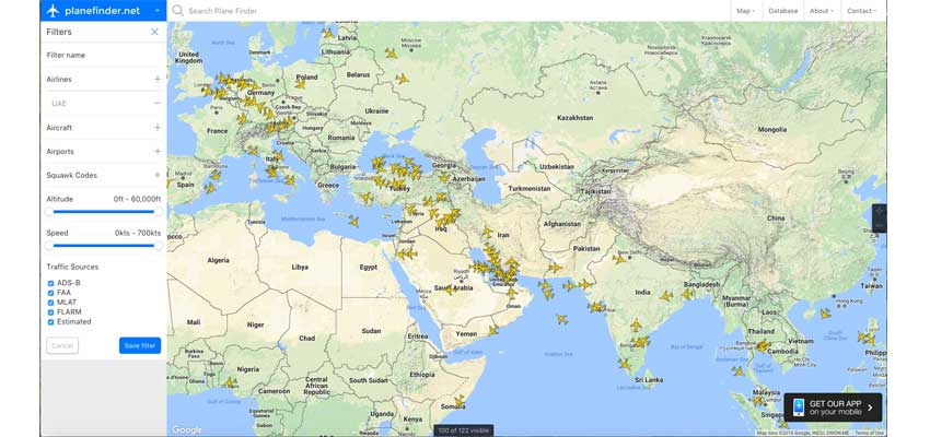 Emirates Flight Tracker