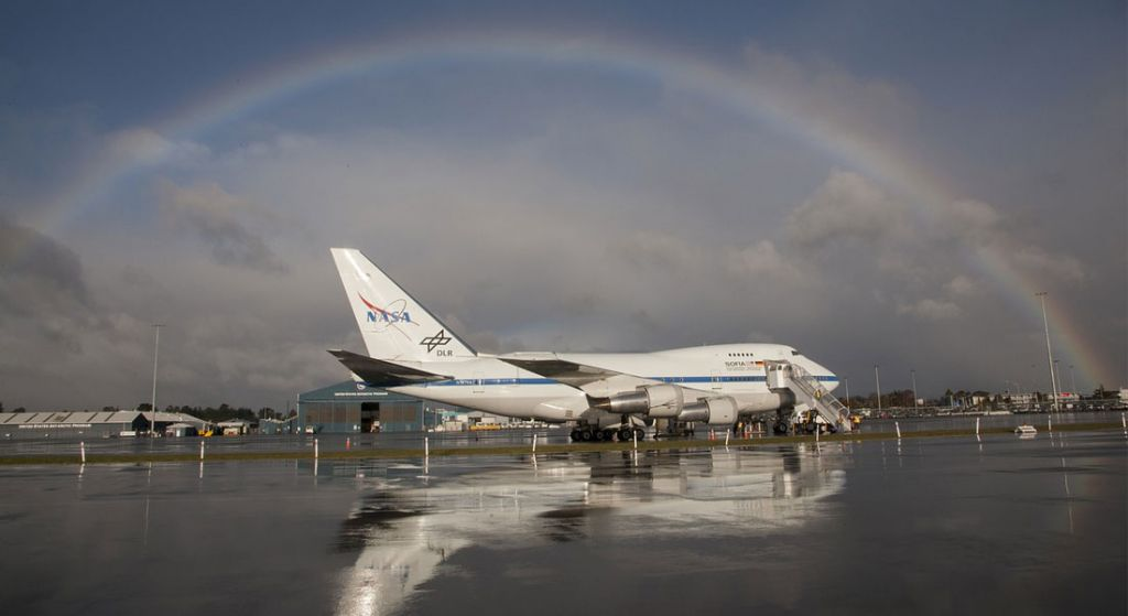 boeing 747 nasa rainbow